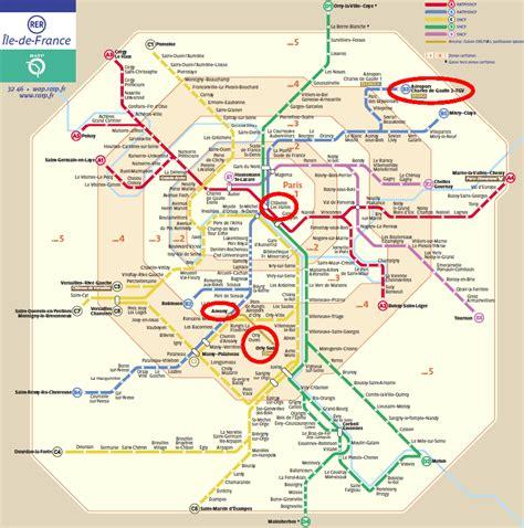 Carte Rer Parisien by Rer B Map