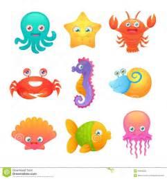 Cute Cartoon Creature Sea Animal