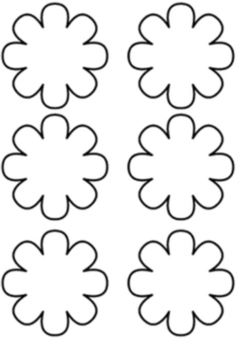 flower template coloring page crafts  worksheets