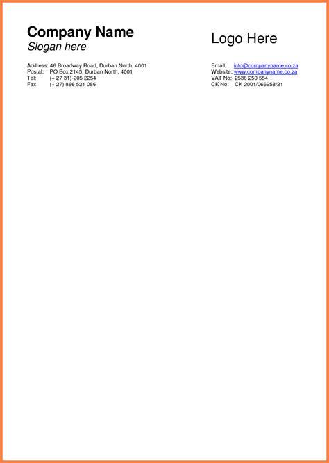 Company Letterhead Template 9 Basic Letterhead Template Company Letterhead