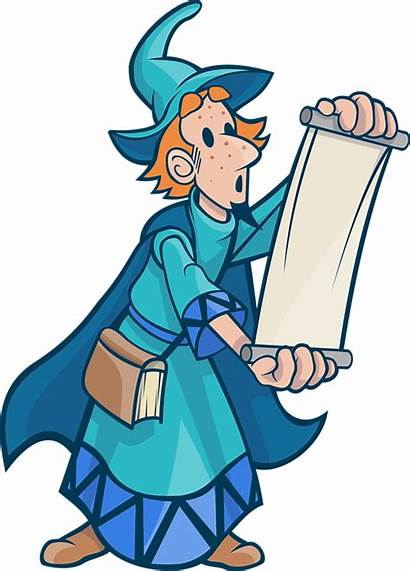 Clipart Wizard Scroll Magic Mage History Mystery