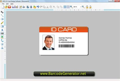 create id card template employee id cards