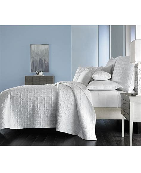 Macys Coverlets by Hotel Collection Embroidered Frame Quilted