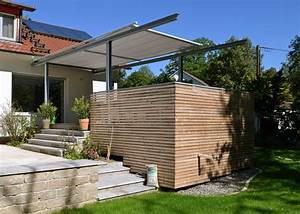 terrassen berdachung mit markise stahlbau n gele With terrassenüberdachung mit markise
