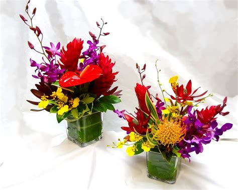 Tischgestecke In Glas by Hawaiian Style Tropical Centerpiece Delivery Or