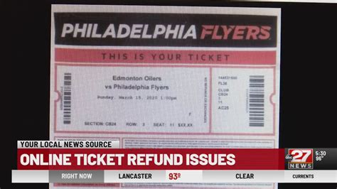 Online ticket refund problems | ABC27