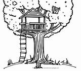 Coloring Tree Treehouse Pages Drawing Colouring Amazing Printable Getcoloringpages Beach Drawings Bestcoloringpagesforkids sketch template