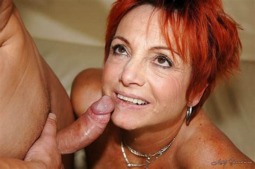 #Redhead #Granny #In #Nylon #Stockings #Gets #Shagged #By #A