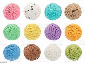 Colorful Ice Cream Scoops Collection Stock Photo - Download Image Now - iStock