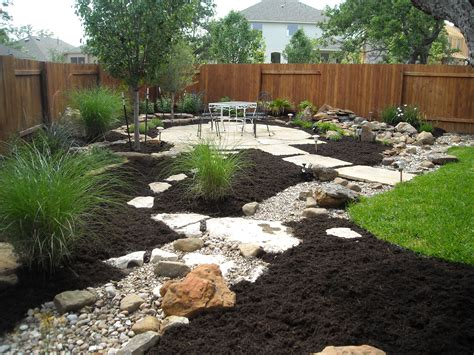 landscape bed ideas create dry riverbed landscape ideas bistrodre porch and landscape ideas