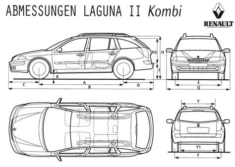 2000 renault laguna ii kombi wagon blueprints free outlines