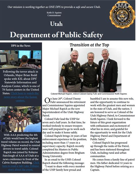 safety bureau dps monthly highlights department of safety