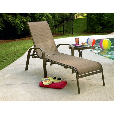 garden oasis grandview sling chaise lounge shop your