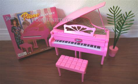 gloria doll house furniture sz piano wchair plant play
