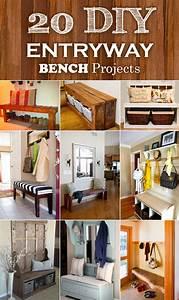 20, Interesting, Diy, Entryway, Benches, Ideas