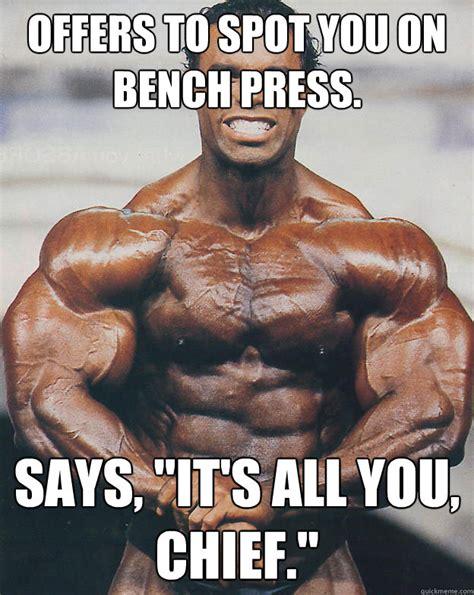 Bench Meme - happy birthday bro casual bodybuilder quickmeme