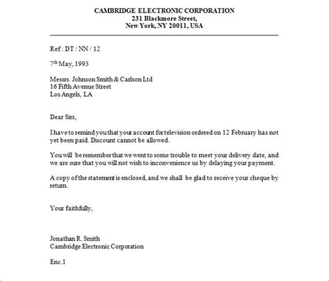 contoh business letter search results calendar