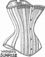 Corset Drawing Corsets Century 19th Myths Exploring Late Getdrawings sketch template