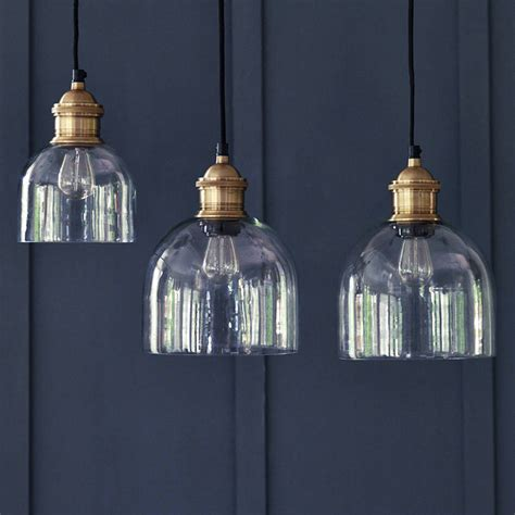Flori Glass Pendant, Brass By Rowen & Wren