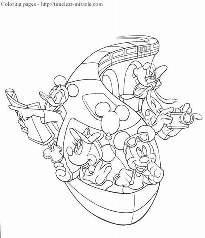 Disney Monorail Clipart Coloring Pages Walt Clipground