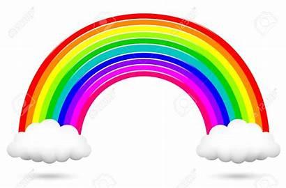 Arc Rainbow Clipart Clouds Ciel Colorful Vector