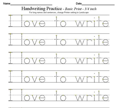 Kindergarten Handwriting Worksheets Free Printable Worksheets For All  Download And Share