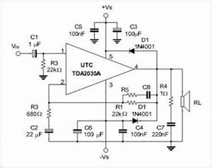 tda2030a 18w hi fi audio power amplifier and 35w driver With 2n3906 2n3904 transistor q1 of the headset amplifier circuit amplifies