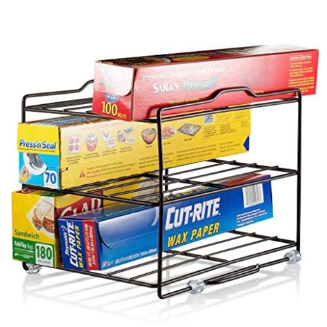 kitchen wrap storage kitchen wrap organizer rack cabinet organizer for food 3529