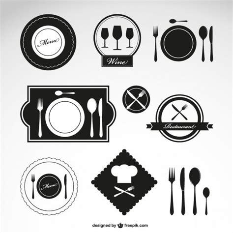 logo cuisine black restaurant logos vector free