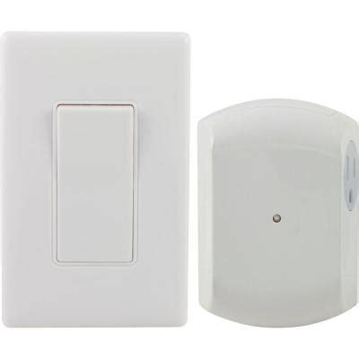remote wall switch light with grounded outlet