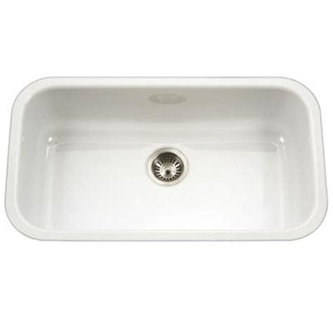 white porcelain undermount kitchen sink houzer porcela series undermount porcelain enamel steel 31 1861