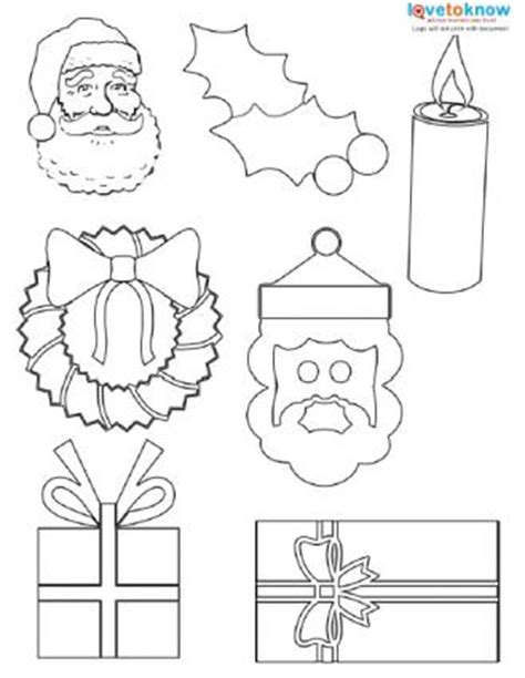 printable christmas ornaments cutouts shapes to print lovetoknow