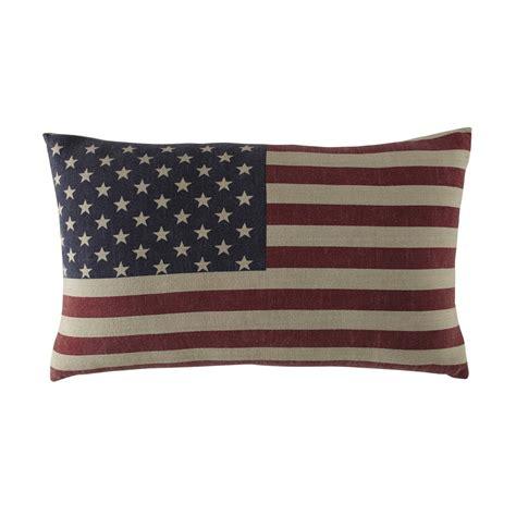rideaux chambre bébé garçon coussin drapeau américain en coton 40 x 60 cm usa