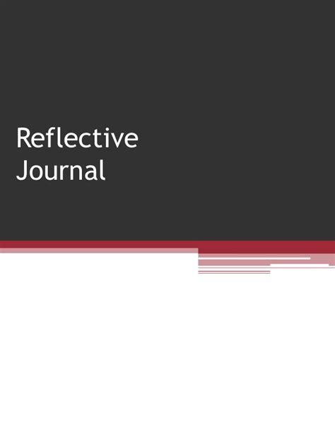 resource  reflective journals
