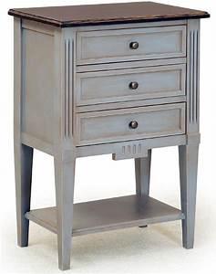 chiffonnier 3 tiroirs h 80 cm en bois massif 3939santander With peindre meuble en bois