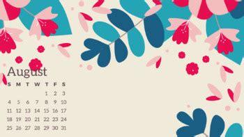 desktop calendars wallpaper august  july  tpt