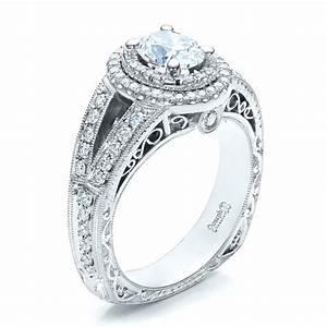 custom oval diamond engagement ring 100041 With oval diamond wedding ring