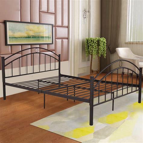 Mattress Metal Frame by Giantex Black Size Metal Steel Bed Frame Mattress
