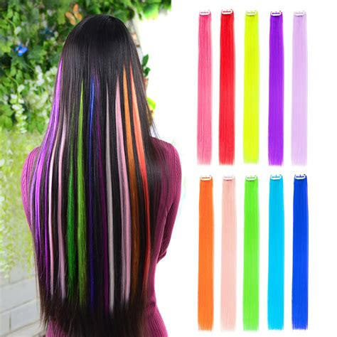 10pcs colored clip in hair extensions 22 fashion