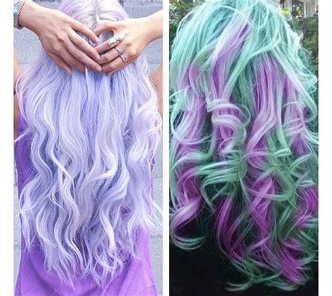 Multi Colored Hair Love The Lavender And Teal Hair