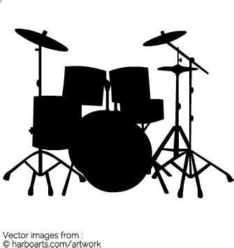 drum stencil template download drum kit silhouette vector graphic