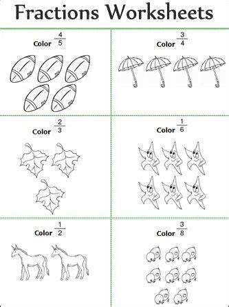 fractions worksheets for prek k 8 schools free math