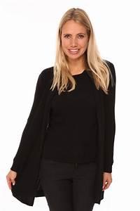 Gilet Long Noir Femme : gilet long noir femme pour avoir chaud ~ Voncanada.com Idées de Décoration