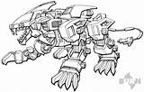 Liger Zoids Coloring Zero Drawing Drawings Printable Cartoon Sketch Template Printablecolouringpages Larger Credit All4 sketch template