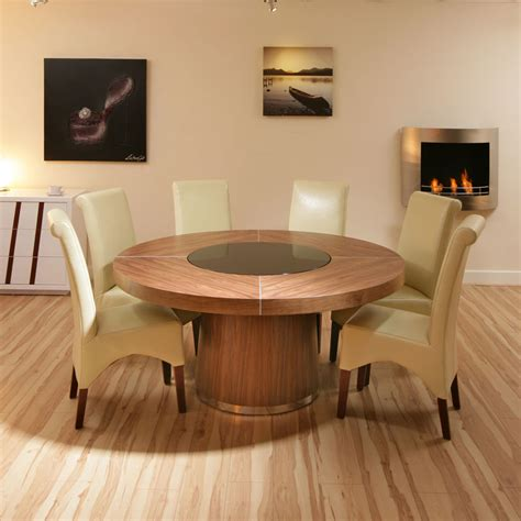 large  walnut dining table withhigh  ivory
