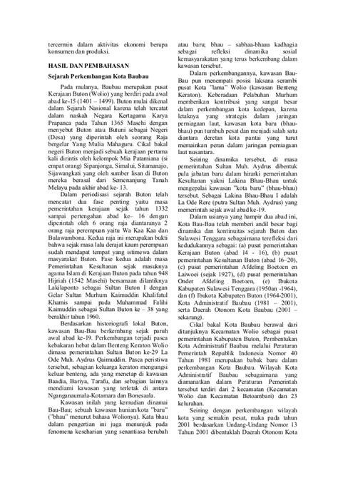 Jurnal Pelabuhan Murhum Baubau