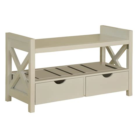 White Wood Storage Bench by Brand Furniture White Wood Shoe Storage Bench With