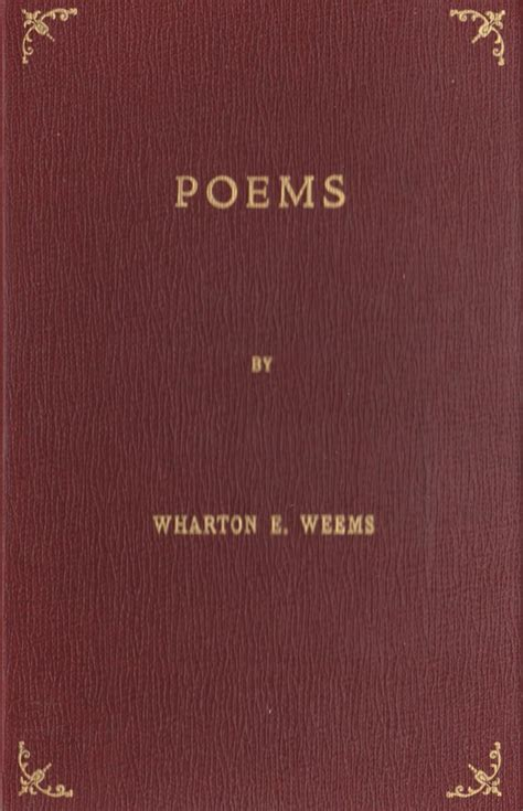 wharton weems poems weems collections