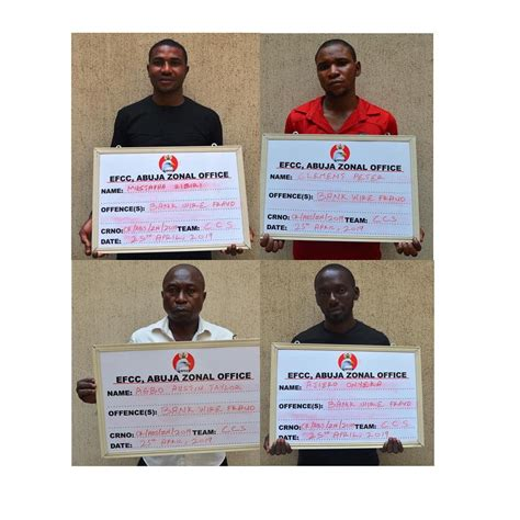 Four Fraudsters Efcc Over Bank Wire Transfer