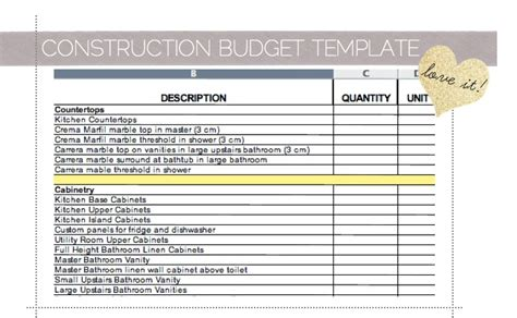 home remodel budget worksheet remodel quick tips